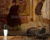 Interior with Two Figures, 1869 (oil on canvas) wall mural kitchen preview