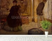 Interior with Two Figures, 1869 (oil on canvas) wall mural in-room view
