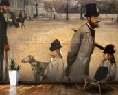 Place de la Concorde, 1875 (oil on canvas) wallpaper mural kitchen preview