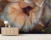 Seated Dancer, 1879-80 (pastel on cardboard) mural wallpaper living room preview
