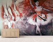 Dancer with Tambourine, or Spanish Dancer, c.1882 (charcoal & pastel on paper) mural wallpaper living room preview
