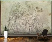 Pieta (pencil on paper) wallpaper mural kitchen preview