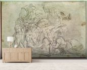 Pieta (pencil on paper) wallpaper mural living room preview