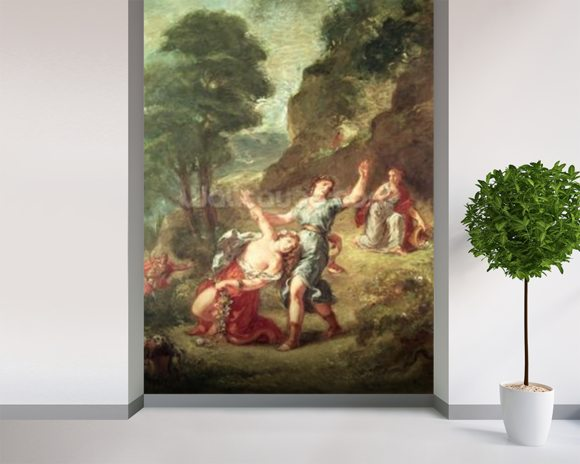 Delacroix ferdinand victor eugene orpheus and eurydice for 4 seasons mural