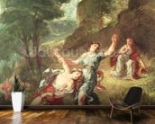 Orpheus and Eurydice, Spring from a series of the Four Seasons, 1862 (oil on canvas) mural wallpaper kitchen preview