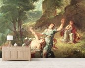Orpheus and Eurydice, Spring from a series of the Four Seasons, 1862 (oil on canvas) mural wallpaper living room preview