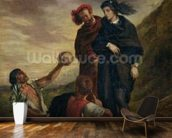 Hamlet and Horatio in the Cemetery, from Scene 1, Act V of Hamlet by William Shakespeare (1564-1616) 1839 (oil on canvas) wall mural kitchen preview