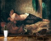 Odalisque (oil on canvas) wall mural kitchen preview