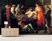 Study for The Death of Marcus Aurelius (121-180), before 1844 (oil on canvas mural wallpaper living room preview