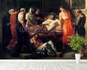 Study for The Death of Marcus Aurelius (121-180), before 1844 (oil on canvas mural wallpaper in-room view