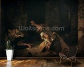 The Prisoner of Chillon, 1834 (oil on canvas) wallpaper mural kitchen preview