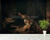 The Prisoner of Chillon, 1834 (oil on canvas) wallpaper mural in-room view