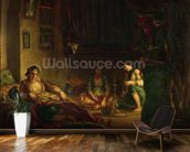 The Women of Algiers in their Harem, 1847-49 (oil on canvas) wall mural kitchen preview