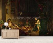 The Women of Algiers in their Harem, 1847-49 (oil on canvas) wall mural living room preview