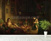 The Women of Algiers in their Harem, 1847-49 (oil on canvas) wall mural in-room view