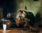 Jewish Musicians in Mogador, 1847 (oil on canvas) mural wallpaper kitchen preview
