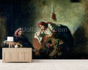 Jewish Musicians in Mogador, 1847 (oil on canvas) mural wallpaper living room preview