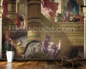 The Expulsion of Heliodorus from the Temple, 1853-63 (oil & wax on plaster) wall mural kitchen preview