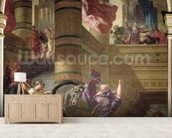 The Expulsion of Heliodorus from the Temple, 1853-63 (oil & wax on plaster) wall mural living room preview