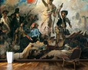 Study for Liberty Leading the People (oil on canvas) mural wallpaper kitchen preview