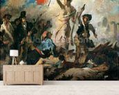 Study for Liberty Leading the People (oil on canvas) mural wallpaper living room preview