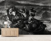 Christ on the Sea of Galilee, 1853 (oil on canvas) (b/w photo) wall mural living room preview