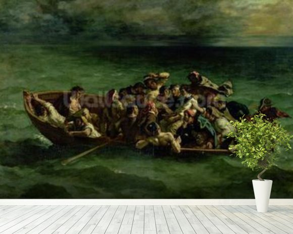 The Shipwreck of Don Juan, 1840 (oil on canvas) (see also 14443) wallpaper mural room setting