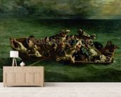 The Shipwreck of Don Juan, 1840 (oil on canvas) (see also 14443) wallpaper mural living room preview
