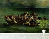 The Shipwreck of Don Juan, 1840 (oil on canvas) (see also 14443) wallpaper mural in-room view