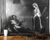 The Arab Merchant (oil on canvas) (b/w photo) wall mural kitchen preview