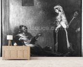 The Arab Merchant (oil on canvas) (b/w photo) wall mural living room preview