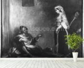The Arab Merchant (oil on canvas) (b/w photo) wall mural in-room view
