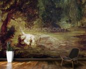 The Death of Ophelia, 1838 (oil on canvas) mural wallpaper kitchen preview