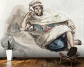 Seated Arab (w/c on paper) wall mural kitchen preview