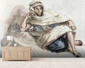 Seated Arab (w/c on paper) wall mural living room preview