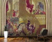 The Expulsion of Heliodorus from the Temple, c.1857 (oil on canvas) wallpaper mural kitchen preview