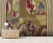 The Expulsion of Heliodorus from the Temple, c.1857 (oil on canvas) wallpaper mural living room preview