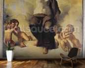 The Virgin of the Sacred Heart, 1821 (oil on canvas) wallpaper mural kitchen preview