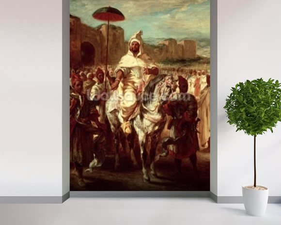 Abd Ar-Rahman (d.788) Sultan of Morocco (oil on canvas) wall mural room setting