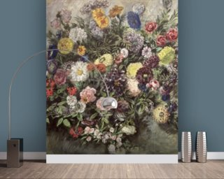 Bouquet of Flowers (w/c, gouache & pastel on paper) wall mural