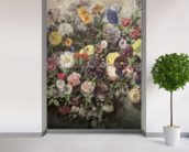 Bouquet of Flowers (w/c, gouache & pastel on paper) wall mural in-room view