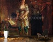 Interior of a Harem in Oran, c.1847 (oil on canvas) wallpaper mural kitchen preview