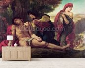 St. Sebastian, 1836 (oil on canvas) wallpaper mural living room preview