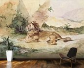 A Lion in the Desert, 1834 (w/c on paper) wall mural kitchen preview