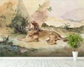 A Lion in the Desert, 1834 (w/c on paper) wall mural in-room view
