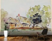 Cottage under Large Trees in Summer, c.1831 (pencil & w/c on paper) wall mural kitchen preview
