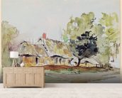 Cottage under Large Trees in Summer, c.1831 (pencil & w/c on paper) wall mural living room preview