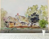 Cottage under Large Trees in Summer, c.1831 (pencil & w/c on paper) wall mural in-room view