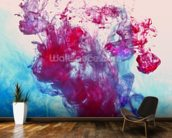 Red and Blue Fluids mural wallpaper kitchen preview