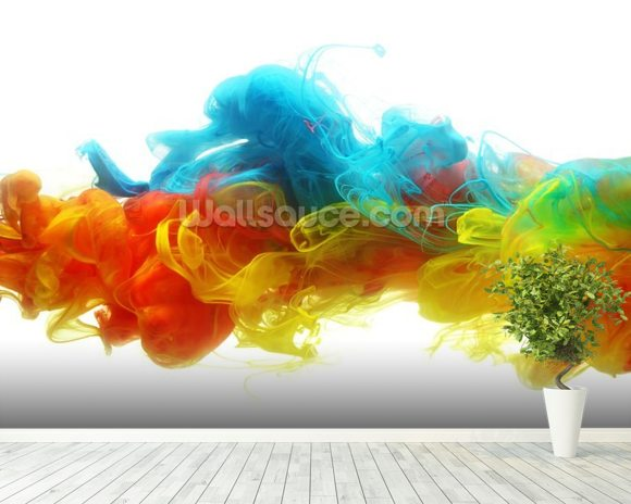 Clouds of colour wallpaper wall mural wallsauce usa for Cloud wallpaper mural